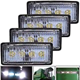 JALN7 Foco LED Tractor para John Deere Luces Tractor Agricola 20W 12V 24V Faro LED Flood Antiniebla Rectangular Impermeable 1Pcs