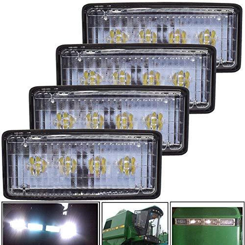 JALN7 Foco LED Tractor para John Deere Luces Tractor Agricola 20W 12V 24V Faro LED Flood Antiniebla Rectangular Impermeable 4Pcs