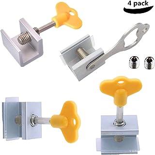 Window Locks, 4 Pack Aluminum Sliding Window Locks Security
