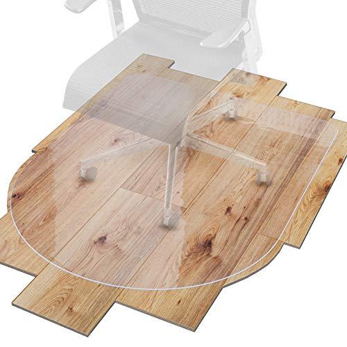 ANRO Bodenschutzmatte Transparent Schutzmatte Schonmatte rutschfest für Hartböden 36 Größen Bürostuhlunterlage 99x140cm D Form