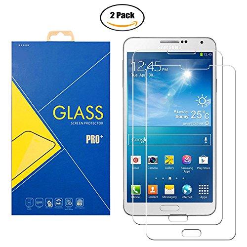 [2 Pack] Protector Cristal Vidrio Templado Samsung Galaxy Note 3 Neo / Note 3 Lite ( SM-N7500 / N7505 / 7500 / 7505 / N750 ) – Pantalla Antigolpes y Resistente al Rayado