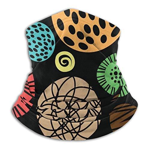 Trista Bauer Pasamontañas Patrón de colores para niños con puntos Cómoda capucha de pasamontañas