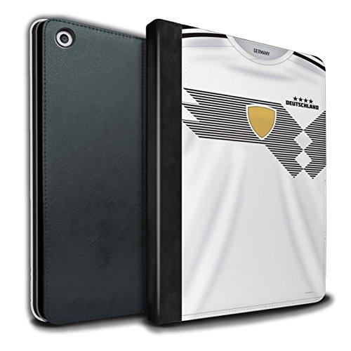 Stuff4® - Funda de Piel sintética para Libros y Camisetas de fútbol de 2018, diseño de la Copa del Mundo Alemania Apple iPad 9.7 (2017)