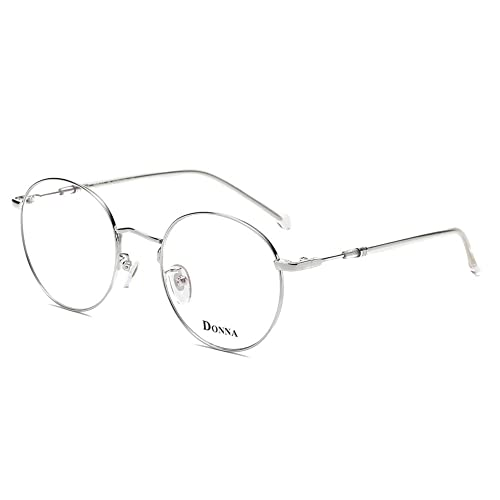 0a70ab0efd DONNA Stylish Clear Lens Women Glasses Samll Circle Round Frame Blue Light  Blocking for Computer DN47