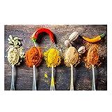 Fondo mural Cocina Condimento Pintura de la lona Especias naturales Chile Restaurante Arte de la par...