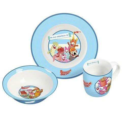 Unbekannt Sorgenfresser 12986 Lot de 3 Pièces Petit-déjeuner, Porcelaine, Multicolore, 19 x 9 x 19 cm