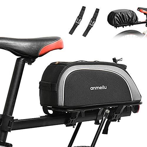 Benkeg-Bike Trunk Bag 7L Fietstas Waterbestendig Fietsenrek Tas met Waterdichte Regenhoes