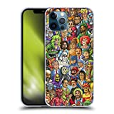 Head Case Designs Ufficiale Chris Dyer Buono Vs Cattivo Pop Art Cover in Morbido Gel Compatibile con Apple iPhone 12 / iPhone 12 PRO