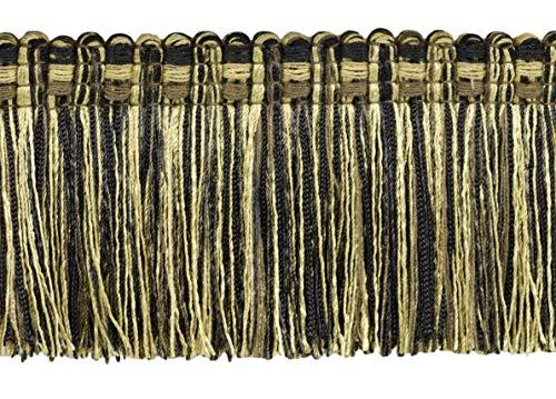Veranda Collection 76mm Brush Fringe Trim|Dark Brown, Brown, Light Brown|Style#: 0300VB|Color: Mesquite - VNT20|Sold by the Yard (91cm / 3 Ft / 36\