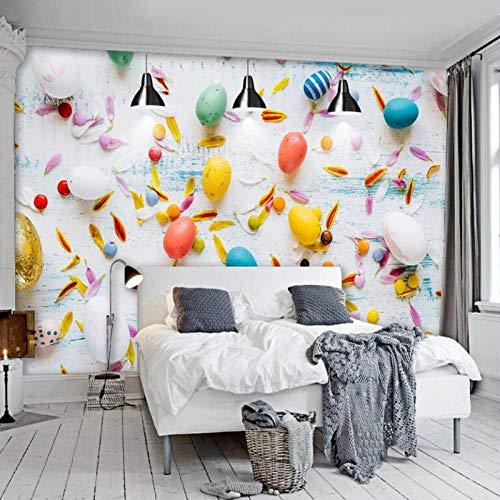 Moderne Bunte Luftballons Wallpaper Für Wände 3D Tapeten Hintergrundbild Wandbild Tapeten Heimwerker Dekorieren-300Cmx210Cm