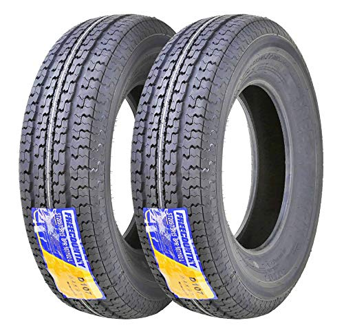 Set of 2 New Premium FREE COUNTRY Trailer Tires ST 205/75R15 8PR/Load Range D w/Scuff Guard