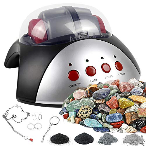 Rock Tumbler Activity Kit, Fun Artwork Handmade DIY Toy Set Polished Stones Jewelry Create, Complete...