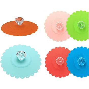 Silicone Cup Lid Glass Drink Cover Coffee Mug Suction Seal Lid Cap W