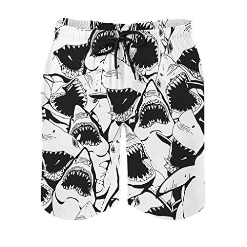 Ktewqmp Zomerzwembroek Wütender Hai heren zwembroek zwembroek heren met zakken outdoor