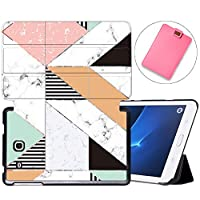 MAITTAO Galaxy Tab A 7.0 Case Model SM-T280 / SM-T285, Slim Folio Shell Case Stand Cover for Samsung Galaxy Tab A 7 Inch 2016 Release & Tablet Sleeve Bag 2 in 1 Bundle, Marble 15