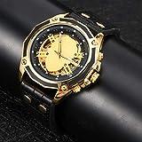 Reloj de pulsera mecánico Automático mecánico Caja de acero inoxidable T-WINNER Durabilidad Bellamente empaquetado Los mejores regalos Gran decoración
