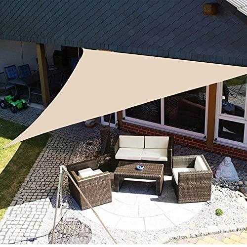 Yeanee Toldo de vela de 2 x 2 m, transpirable y resistente al desgaste, para jardín, balcón, cochera, color negro, gris y beige
