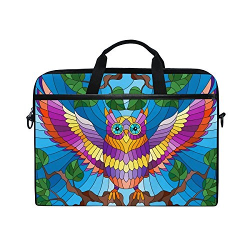 Laptop Case Sleeve Owl Laptop Shoulder Messenger Bag for 13 inch to 15 inch with adjustable Notebook Shoulder Strap