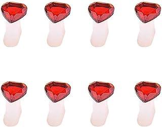 Gankmachine 8pcs / Set Flor de la Margarita del corazón del silicón del Dedo del pie Separadores Separadores Toes Nail Art...