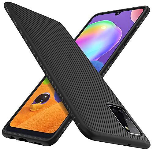 iBetter Kompatibel mit Samsung Galaxy A31 Hülle,Stylisch Design Hülle Abdeckung Handy Handyhülle Schutzhülle Shock Absorption Hülle Kompatibel mit Samsung Galaxy A31 Smartphone, Schwarz