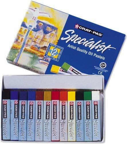 Sakura eSP12 12–piece-specialist cray pas couleurs assorties oil pastel set by sakura of america