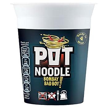 Pot Noodle Bombay Bad Boy Flavour - 90g - Pack of 4  90g x 4