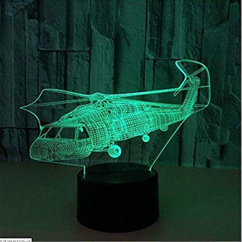 Led Lights Edison Lights 3D Acryl Nachtlicht Hubschrauber