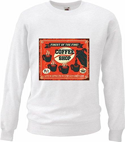 Pullover met capuchon, koffiepullover met melk, cappuccino, espresso, koffie, Amerikaanse melk, chocolade, koffiemok met calorieën en dieet voor het afmaken