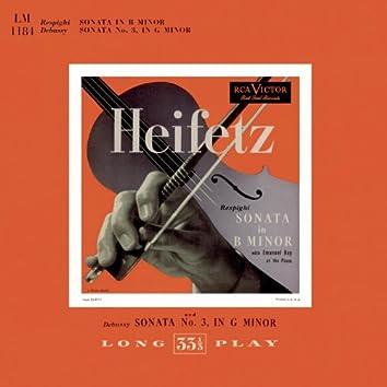 Respighi: Sonata in B Minor; Debussy: Sonata Nr. 3 in G Minor