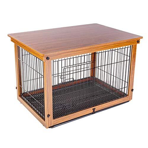 Cucce Gabbia for Cani Cuccia Recinzione for Animali Domestici di Grandi Dimensioni Recinzione Esterna Gabbia di Animali Domestici in Ferro Massello con Vassoio Portapacchi