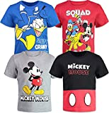 Disney Mickey Mouse Donald Duck Goofy Pluto Toddler Boys 4 Pack Graphic T-Shirt 2T