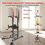 YOLEO Adjustable Power Tower - Multi Function Pull up Station for Strength Training - Dip Stand Workout Fitness Bar - Push up Equipment of Home Gym Exercise