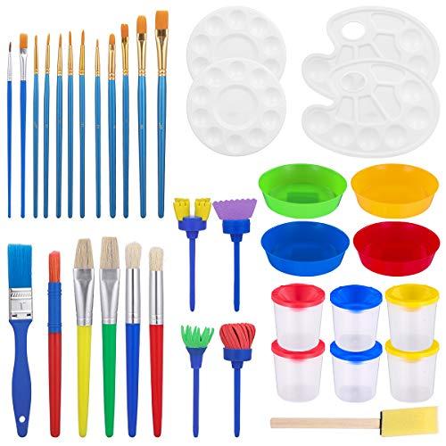 STOBOK 37 Stücke Malerei Kits | Kinder Früh Lernen Kinder Malen Set,Schwamm malpinsel Kinder malen Kits früh DIY Lernen Graffiti Zeichnung Kits