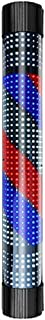 VPABES Barber Shop Pole Red White Blue Stripes Rotating LED Light Waterproof Save Energy Salon Shop Sign Wall Lamp