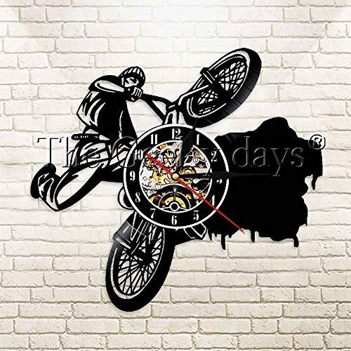 Bmx motocicleta silueta diseño madera de vinilo lámpara de mesa lámpara de mesa lámparas de mesa lámpara de mesa de batería