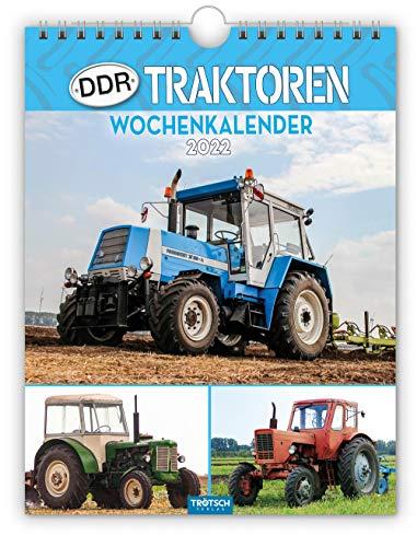 Trötsch Wochenkalender DDR Traktoren 2022: Wandkalender: 19 x 25 cm, mit Bildern von Ralf-Christian Kunkel