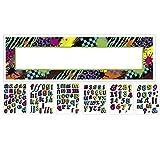 LIRAGRAM Banderín Gigante con 120 Letras y números Totally de 80´s