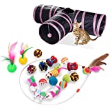 Cat Interactive Toy for Kitty and Cats Reehi 27Pcs Cat Toys Kitten Toys Assorted with Cat Tunnel for Indoor Cats