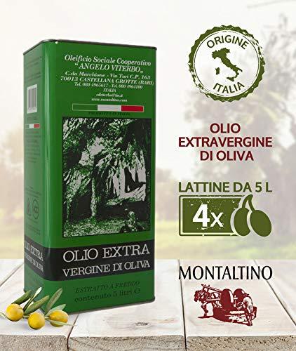 Olio EVO Extravergine di Oliva ORIGINE: ITALIA - 5 Litri 100% Alta Qualità - 4Pz