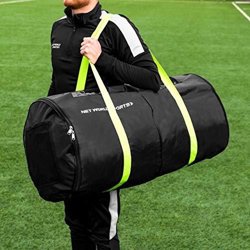 FORZA Fußballnetz Tragetasche – Diese Tasche kann bis zu Zwei vollgroße Fußballtornetze lagern – Seitentasche für Netzzubehör
