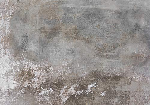 wandmotiv24 Fototapete Rustikal Beton-wand Grau, XL 350 x 245 cm - 7 Teile, Fototapeten, Wandbild, Motivtapeten, Vlies-Tapeten, Stein, Mauer M1439