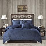 Woolrich Perry Oversized Denim Comforter Set Blue King/Cal King