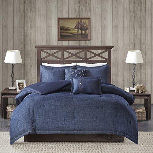 Woolrich Perry Oversized Denim Comforter Set Blue Queen