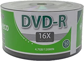 1000 Pack MyEco DVD-R 16X 4.7GB/120Min Silver Logo Top Write Once Blank Media Record Disc
