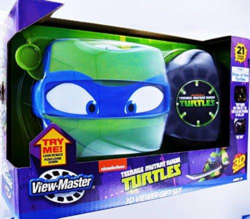 View Master TMNT Teenage Mutant Ninja Turtles 3D Viewer Set 3 Reels Case New Nib