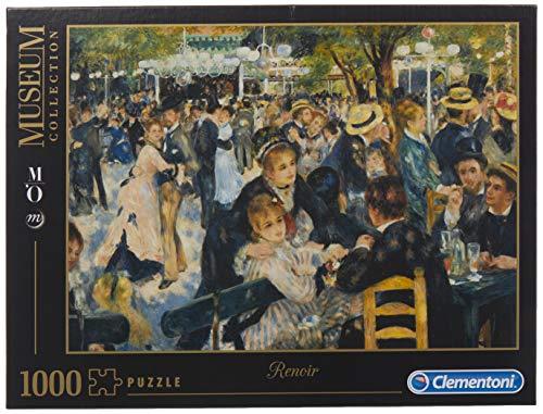 Clementoni- Renoir: Bal du Moulin de la Galette Los Pingüinos De Madagascar Puzzle 1000 pzas Museum, Multicolor, 12+ (314126)