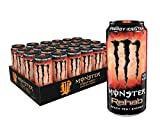 Monster Rehab Peach Tea + Energy, Energy Iced Tea, 15.5 Ounce (Pack of 24)