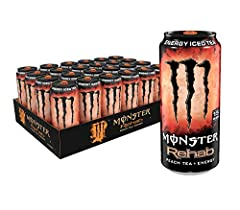 TEA + ENERGY | Monster Rehab Peach Tea + Energy: RE-FRESH, RE-HYDRATE, RE-VIVE, or in other words, Re-habilitate with a killer mix of peach tea, electrolytes, and our bad-ass Monster Rehab energy blend. Monster Rehab Peach Tea + Energy delivers 160mg...