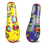 JOYIN 2 Pack Inflatable Bopper, 47 Inches Kids Punching Bag with Bounce-Back Action, Inflatable Punching Bag for Kids Gift