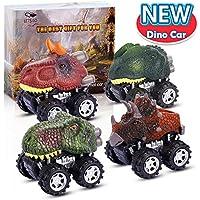 ATOPDREAM Juguetes Niños 2-8 Años, Tire hacia atrás de los Coches de Dinosaurios Juguetes Niños 2-5 Años Educativos Juegos Infantiles Juguetes para Niños de 2-8 Años (4 Pcs)